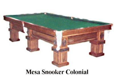 Mesa de Snooker Modelo Colonial com Pano